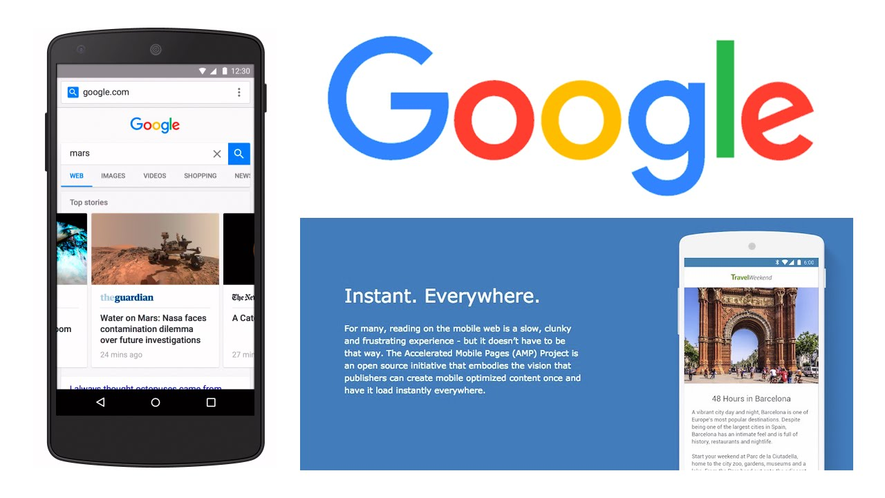 what is google amp pages by huntertech amp page development company